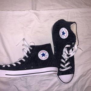 High Top Converse Ribbed Fabric Men's 9.5